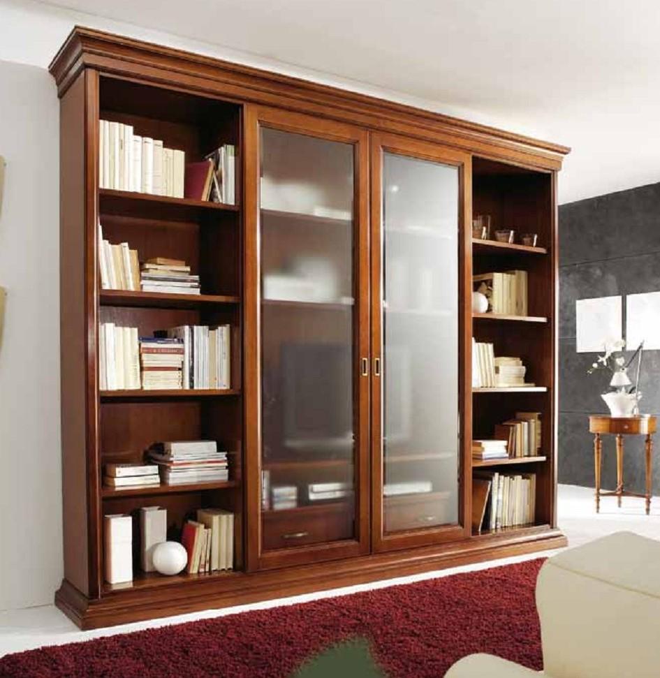 Libreria con ante scorrevoli mobili ieva torino for Mobili librerie torino